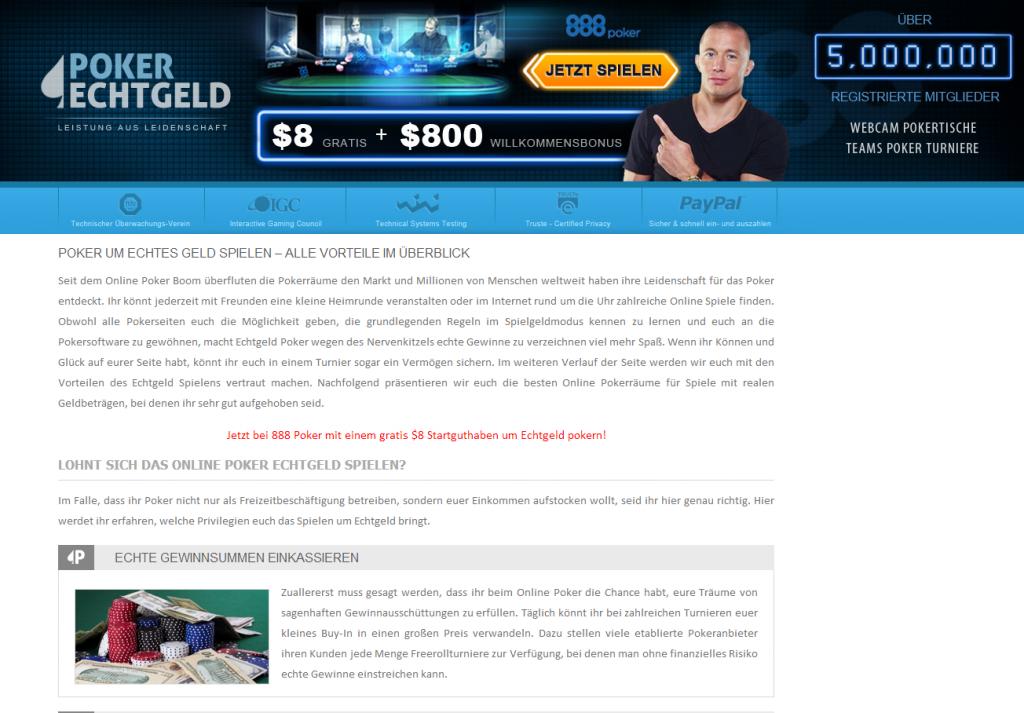 Online Poker Echtgeld Spielen Bei Den Besten Pokerräumen 2014